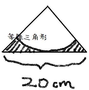 这个图形是在等腰直角三角形里作扇形,求阴影部分面积图片