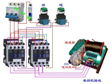 接触器实物接线图图片