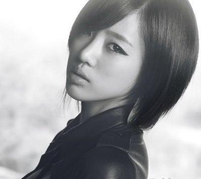 tara组合成员朴智妍新发型图片