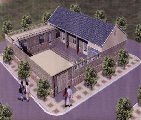 农村三间平房设计图 二 农村平房设计效果图农村平房设计高清图片