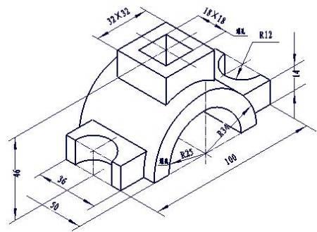 工程制图三视图,45度斜线怎么定?图片