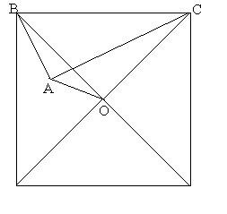 abc为直角三角形,∠a=9002,以斜边bc做正方形,正方形对角线交于o点图片
