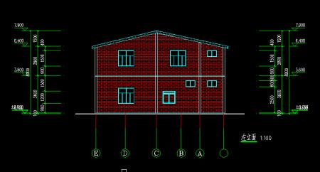求图纸农村地基5米宽长9米房屋房屋效果图图片