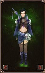 骷髅战甲 天龙八部OL时装染色 女性时装大全