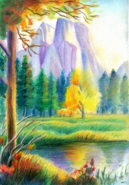 画一幅风景铅笔画_风景520图片