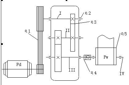 带式输送机传动装置中的二级圆锥圆柱齿轮减速器设计图片