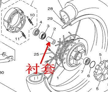 男士摩托车后轮的两个轴承中间要装什么 高清图片