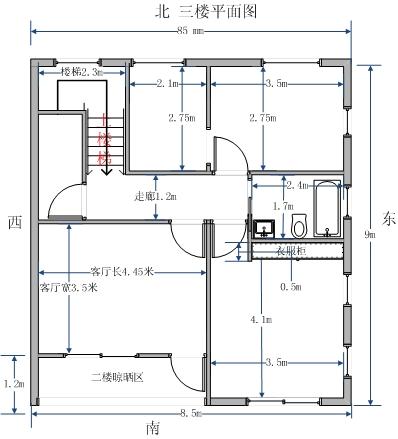 100平方米房子设计平面图