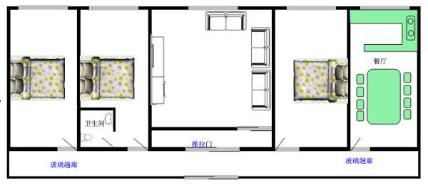 米房屋设计图纸-7x14米农村房屋设计图-100平方米房屋设计图-10米x7图片
